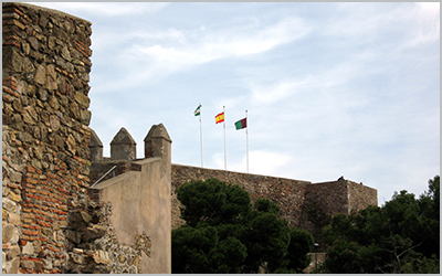 The Gibralfaro Castle in Malaga - Photo by Olaf Tausch