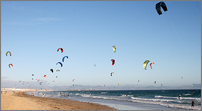 Tarifa is one of the best places to Kitesurf - Photo by digitalnoise