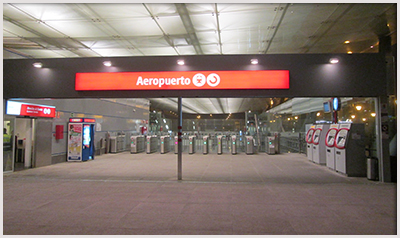 Malaga airport train station photo by Tyk